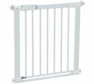 Safety 1st SecurTech Flat Step Metal Stair Baby Gate Safety Barrier - White