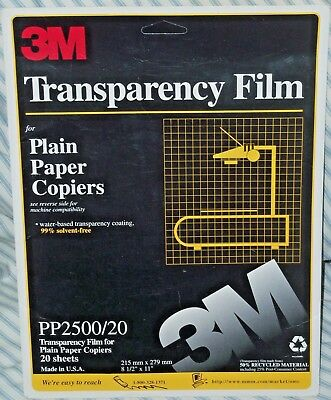 3M (14 Sheets) PP2500 Transparency Film for Plain Paper Copiers - Partial Box