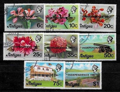 Antigua 1981 QEII Independence Overprints - SS to $1 - Used