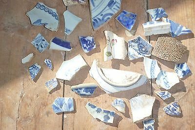 old pottery hand painted found eyes only metal detecting shards sherds pieces