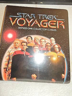 Star Trek Voyager Series 1 Trading Card Folder With Base Set Of Cards