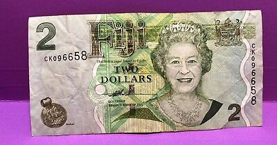 FIJI  $2 and $20 Old Paper Notes  - ERII Head of state Notes   Circulated