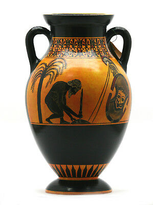 Suicide of Ajax Vase Ancient Greek Amphora Pottery Art Museum Copy 530BC