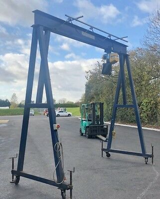 5Ton Gantry Fitted with 1.5Ton Electric Hoist