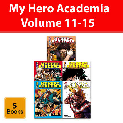 My Hero Academia Volume 11-15 Collection 5 Books Set Series 3 Manga pack NEW