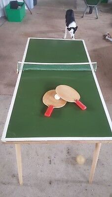 Very Rare Mini Johnny Leach Table Tennis Table 1949/50 With Original Net And Bat