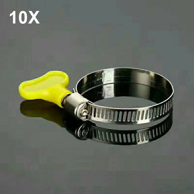 """10 Pcs Stainless Size 20 Adjustable Drive Hose Clamp Fuel Line Pipe Clip 3/4""""-1"""""""