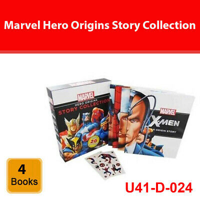 Marvel Hero Origins Story Collection 4 books set pack Captain America,Thor,X-Men