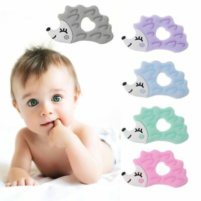 Baby Hedgehog Shape Baby Ring Silicone Beads Teething Ring Toy DIY Chain