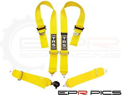 TRS Magnum FIA 4 Point Snap on Race Harness in Yellow Colour *Genuine Item*