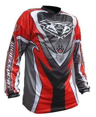 Adults Quad MX Motocross Wulfsport Wulf 2017 Top Race Shirt ATTACK Red T