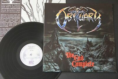 Obituary – The End Complete LP 1st PRESS DEATH METAL 1992 RC 9201-1 Possessed
