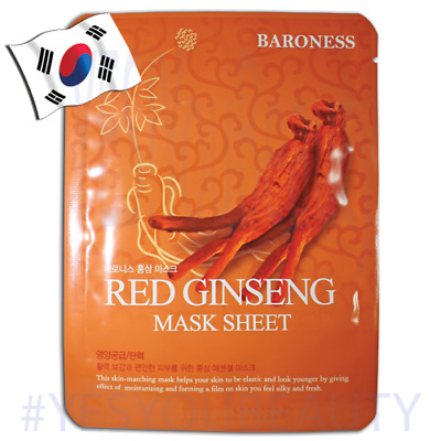 Baroness RED GINSENG Facial Mask KOREAN Face mask FIRMING, REDUCE BLEMISHES