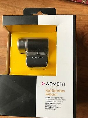ADVENT High Definition Webcam 720p With 30 Frames Per Second