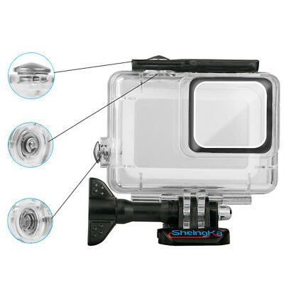 Whole Cover Protector 45M Waterproof Diving Housing Shell Case GoPro Hero 7