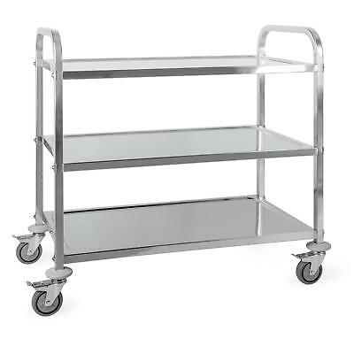 Oneconcept Great Gatsby Trolley Cart 3 Shelves Stainless Steel Service Cart
