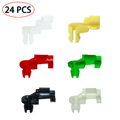 Plastic Push Pins Door Lock Rod Clip 5 mm Rod Size 12 Pairs Car Clips