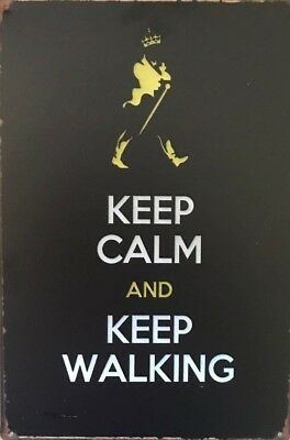JOHNNIE WALKER Vintage Rustic Retro Tin Metal Sign Man Cave, Shed & Bar-