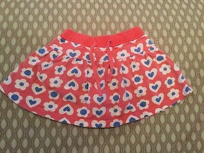 mini boden 1.5-2 years skirt red flowers and hearts