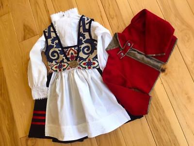 Custom Girl`s Antique Pretty Norwegian Festdrakt Bunad & Jacket  From Norway