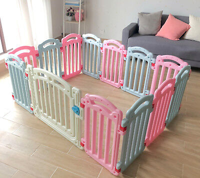 Baby Plastic Playpen Room Divider 3in1 Child Play Gate 13 Panels