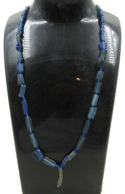 Authentic Ancient Roman Era Glass Beaded Necklace - H294