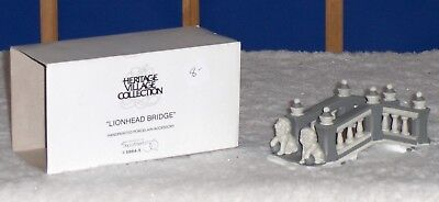 Dept 56 Dickens Heritage Village Lionhead Bridge Accessory
