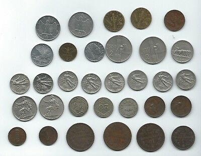 Italy Lot of 32 Coins 1861-1942