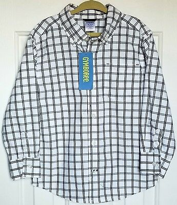Boys Gymboree Button Front Long Sleeve Plaid Shirt XS 3-4 NEW