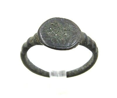 Authentic Crusaders Bronze Ring W/ Star Of Bethlehem - Wearable - H318