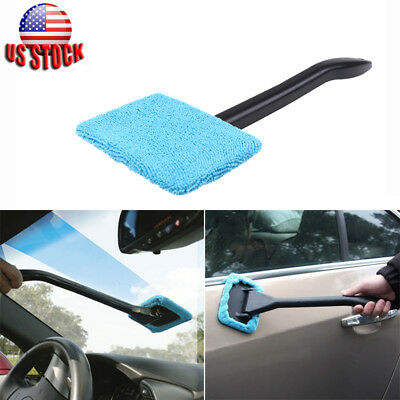 1pcs Car Wiper Cleaner Microfiber Windshield Easy Clean Glass Window Brush Tool
