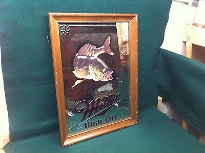 MILLER HIGH LITE SPORTMANS SERIES 1st EDITION MIRROR! (WALLEYE)