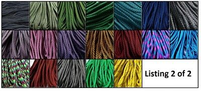 +***Paracord 550, 7 strands - 25, 50 & 100 ft*** NOW 111 COLOURS; listing 2 of 2