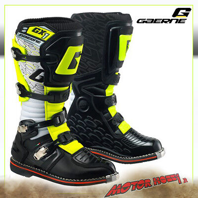 Stivali Cross Enduro Gaerne Gx1 White Black Yellow Taglia 45