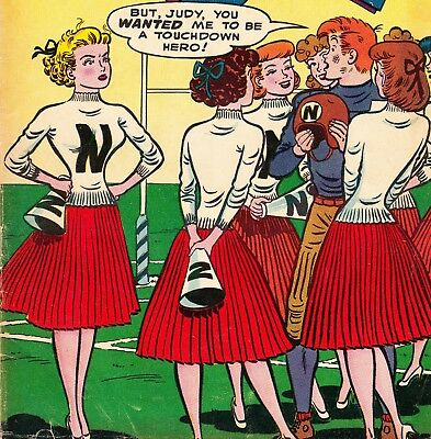 A Date With Judy #44 Dc/national Comics Book *cheerleader Cover* (1955)