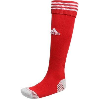 Adidas Three Stripe Socks NEW Mens JNR ADULT 3 Football Soccer Sports Red Sock
