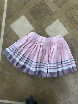 St Michael M & S vintage 1960s Baby/Toddler Girl Pink Wool Skirt Age 2