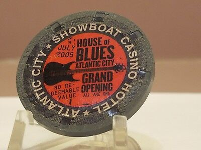 Showboat House of Blues Grand Opening Atlantic City AC chip. Combine S&H