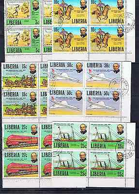 Liberia Rowland Hill Blocks Of Four