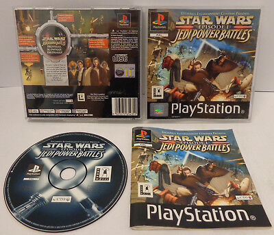 Game Playstation 1 PS1 PSOne PSX PAL ITA Star Wars Episode I Jedi Power Battles