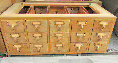 Moving Need To Sell.vintage 15 Drawer Library File Card Catalog Storage Cabinet