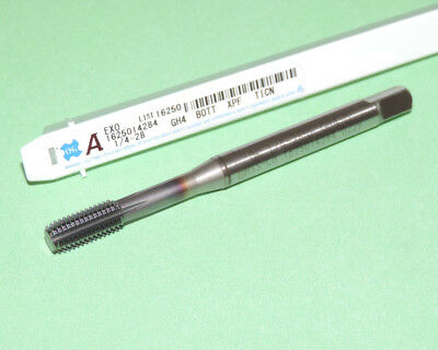 1/4-28 OSG EXOPRO XPF Cobalt Thread Forming Tap GH4 TiCN Coated