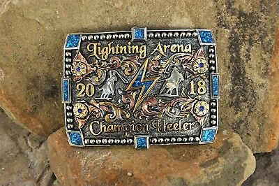 Champion Trophy Rodeo Buckle-Champion Heeler-2018