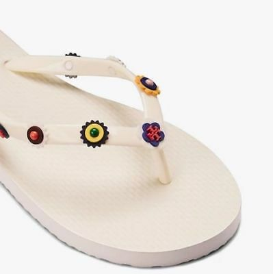aa18689bb3f3 NIB  265 TORY Burch Marguerite Sandals Flower Cut out Shoes Samba ...