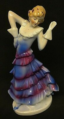 Vintage *** ART DECO *** DANCING *** Lady Figurine *** AIR BRUSHED