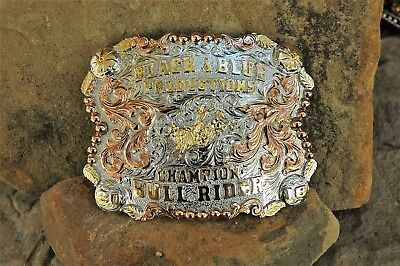 Champion Trophy Rodeo Buckle-Champion Bull Rider-2018