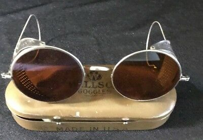 Vintage * WILLSON * Driving GOGGLES * Early 1900s * AMBER LENS * MOTORCYCLE