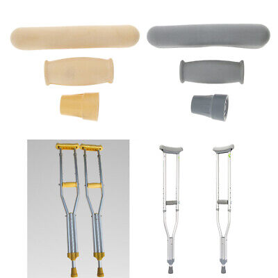 Crutch Accessory Kit-Universal-Handgrips Cover+Crutch Underarm Pad+Tip Cover