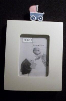 "Picture Frame For Baby Photo Gender Neutral  2 1/2"" X 3 1/2 Mini Frame"