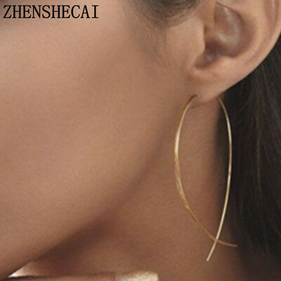 Fish Shaped Stud Simplicity Earrings Copper Wire Hand Made Earring For Women Stu